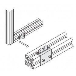 loquet pour profilé aluminium fente 10 mm + visserie