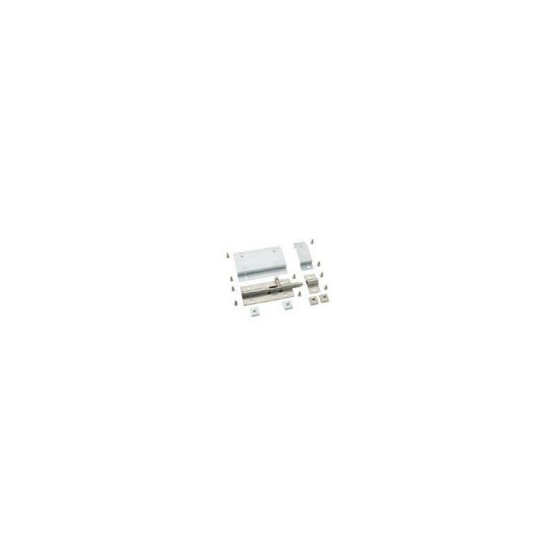 Verrou coulissant pour profilé aluminium fente 8 mm + visserie
