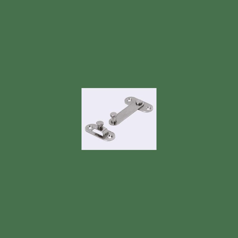 Verrou coulissant pour profilé aluminium fente 6 mm + visserie