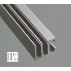 Rail with 8mm slot for sliding panels – 2 rows
