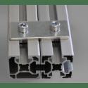 Plaque de fixation simple pour profilés 45x45 à fente de 10 mm - Avec visserie