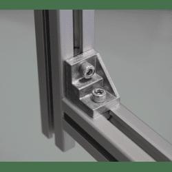 Equerre de fixation profilés 10 mm - visserie incluse - pour profilés 40 ou 80