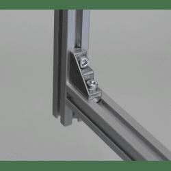 Equerre de fixation profilés 6 mm