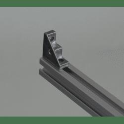 Equerre de fixation profilés 6 mm - avec trou de fixation