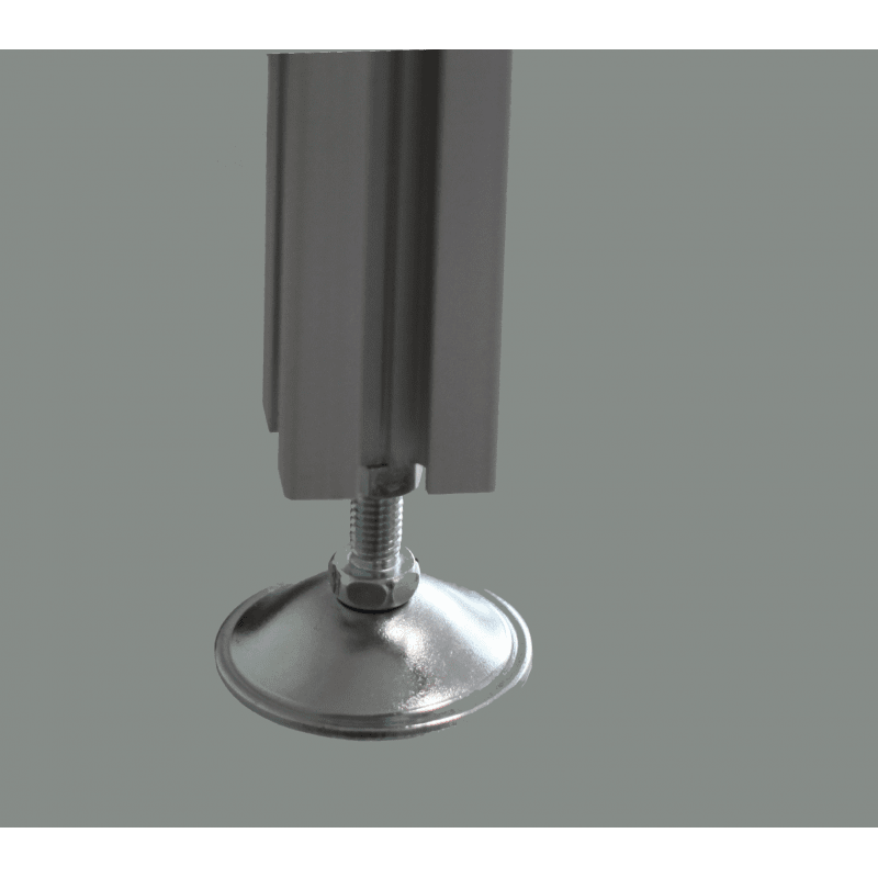 Pieds pour profilés à fente de 6 mm