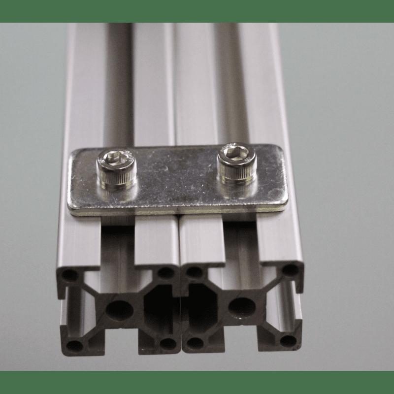 Plaque de fixation pour profilés 20x20 à fente de 6 mm