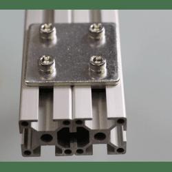 Plaque de fixation double pour profilés 30x30 à fente de 8 mm - Avec visserie
