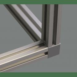 Raccord d'assemblage - 3 profilés 10 mm - Gris