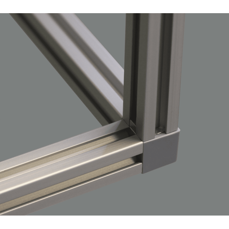 Corner Bracket 3 ways for 10 mm slot 40x40 profile - Grey