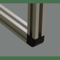 Raccord d'assemblage - 2 profilés 8 mm - Noir