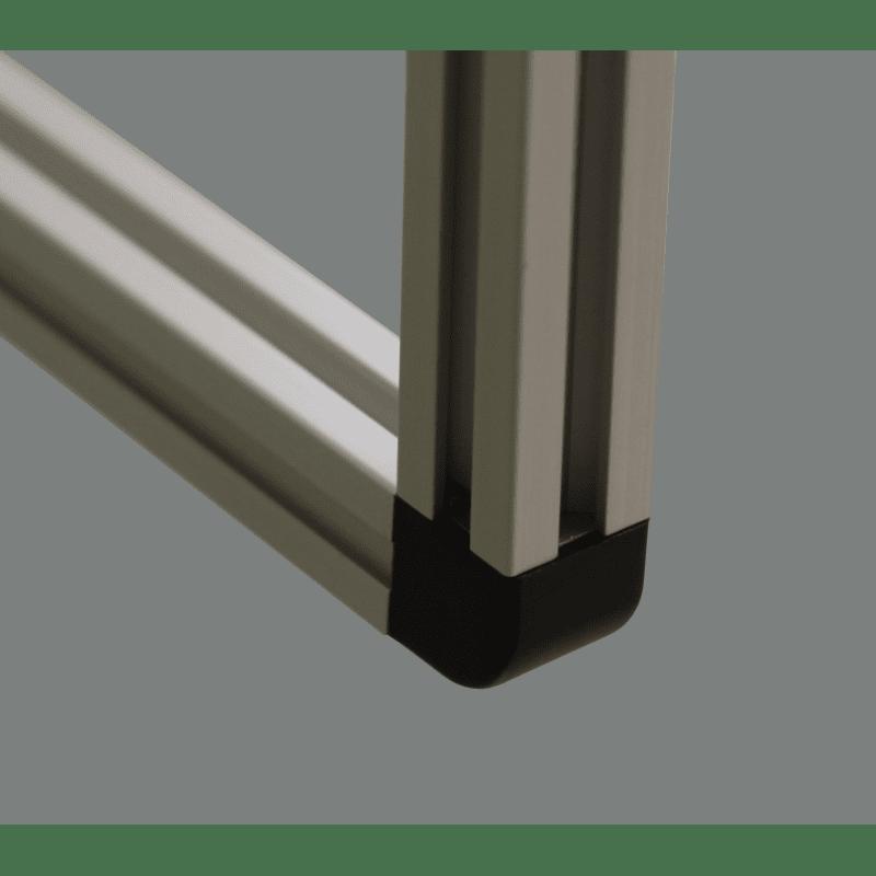 Raccord d'assemblage - 2 profilés 10 mm - Noir