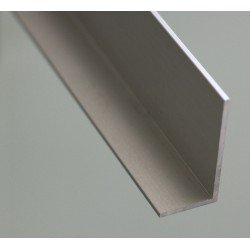 L-shaped aluminium profile 40x40 2mm thick