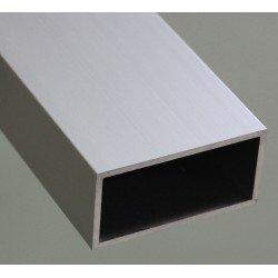 Square aluminium tube profile 25x50