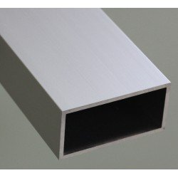 Square aluminium tube profile 25x50