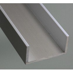 U-shaped aluminium profile 25x50