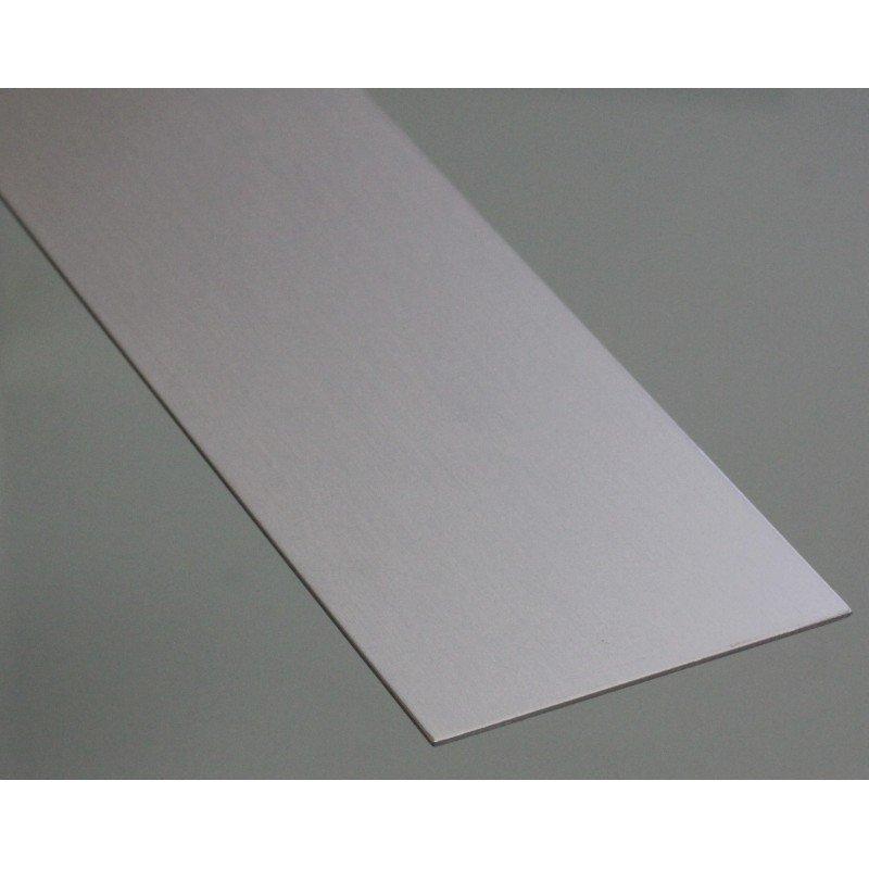Profilé aluminium plat 20 mm épaisseur 2 mm