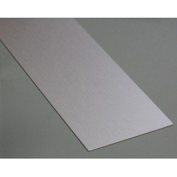 Flat aluminium profile 25mm thickness 2mm
