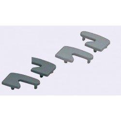 Embout droit pour poignées en profilé aluminium - Gris