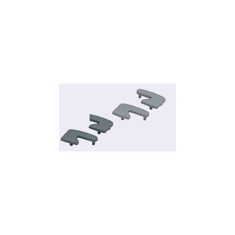 Embout droit pour poign es en profil aluminium noir syst al for Profile aluminium noir