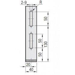 Support d'ancrage pour profilé 30x30 8 mm