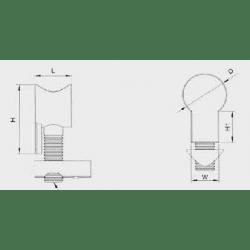 Fixation universelle pour profilé à fente de 8 mm