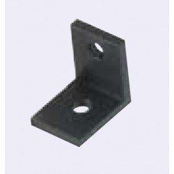 Equerre fine pour profilé aluminium 40 fente de 10 mm - Anodisé noir