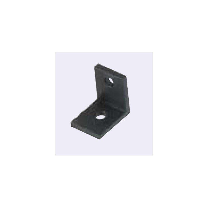 Equerre fine pour profil aluminium 40 fente de 10 mm for Profile aluminium noir