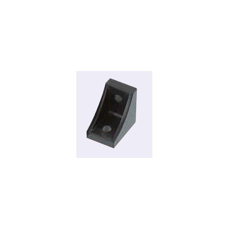 Equerre de fixation profilés 10 mm pour profilés 40 ou 80 - Noir