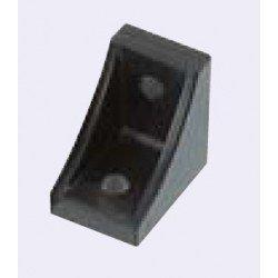 Equerre de fixation profilés 10 mm - pour fixation en croix - pour profilés 40 ou 80 - Noir
