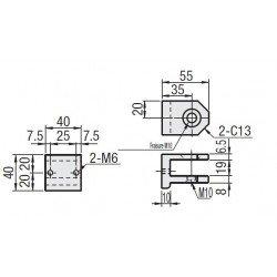 Articulation pour profilé 30x30 - Fixation pour 2 extrémités - Visserie incluse