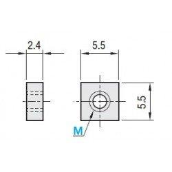 Lot de 100 écrous M3 pour profilé aluminium 15x15