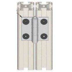 Charnière pour profilé aluminium fente de 6 mm