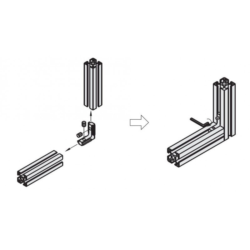 accessoire profil s aluminium. Black Bedroom Furniture Sets. Home Design Ideas