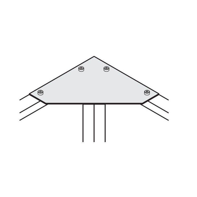 Plaque de fixation d'angle pour profilés 30x30 fente de 8 mm
