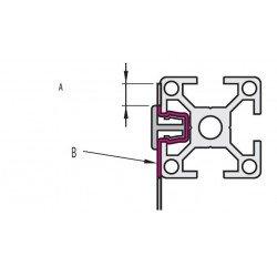 Support de toile à clipser - pour profilé à fente de 6 mm