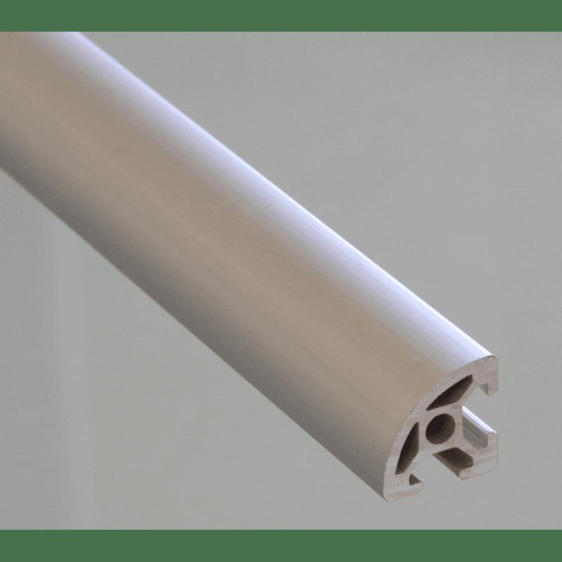 Profilé aluminium 20x20 arrondi à fente de 6mm