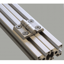 Metal hinge for 30x30 profiles with 8mm slot