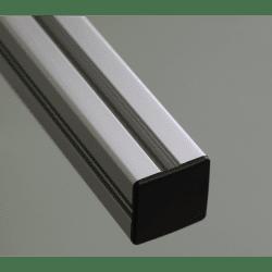 Embout de protection pour profilés 20x20 fente de 6mm (Ø4.2mm) - Noir