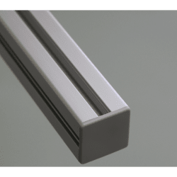 Embout de protection pour profilés aluminium 30x30 fente de 8mm - Gris