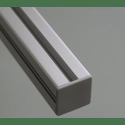 Embout de protection pour profilés 20x20 fente de 6mm (Ø5mm) - Gris