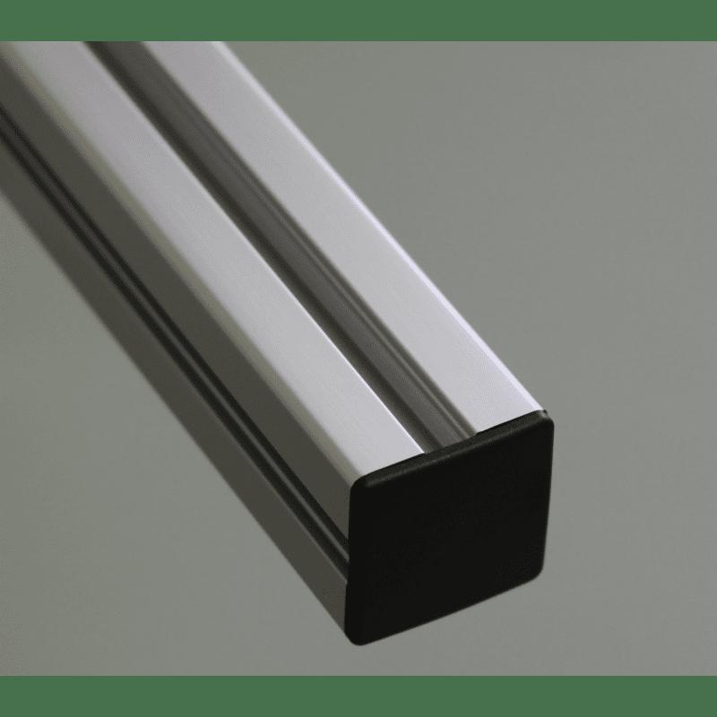 Embout de protection pour profilés 20x20 fente de 6mm (Ø5mm)  - Noir