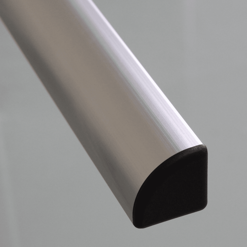 Embout de protection pour profilés aluminium arrondi 30x30 fente de 8mm - Noir