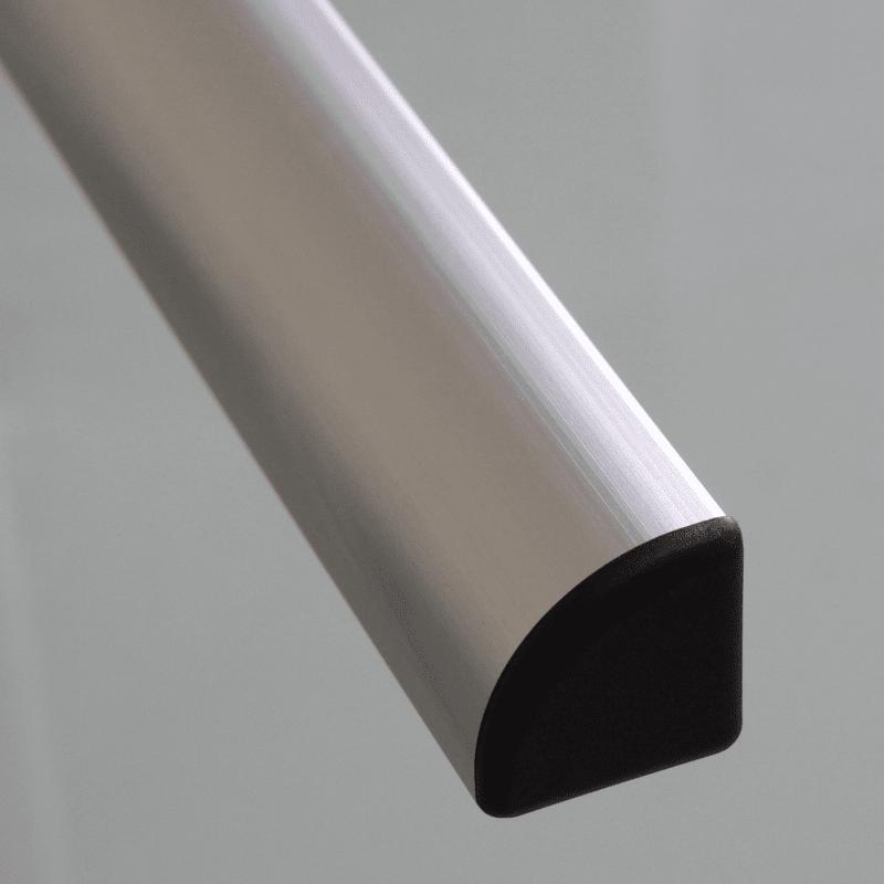 Embout de protection pour profil s aluminium arrondi 30x30 fente de 8mm noir for Profile aluminium noir