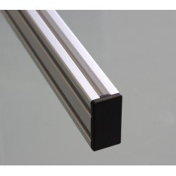 Embout de protection pour profilés 20x40 fente de 6mm - Noir
