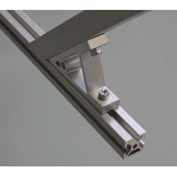 Fastening bracket 45° for 6mm profile with one groove