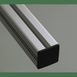 Embout de protection pour profilés aluminium 50x50 fente de 10mm - Noir