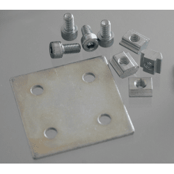 Double Sheet Metal Joint for 10 mm slot 45x45 profile