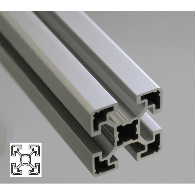 Aluminium Profile 40x40 10mm Slot Light Syst 233 Al