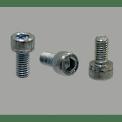 Lot de 10 vis de fixation pour profilé à fente de 6mm - Filetage M5 - Tête à six pans creux