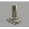 Post-assembly M6 fastening bolts for profiles with 8mm slot